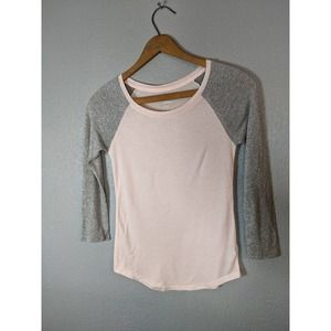 American Eagle Soft Pink and Glitter Top
